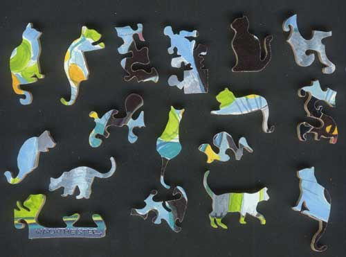 cat figurals for wood jigsaw puzzle