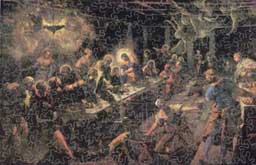 Wooden Jigsaw Puzzle Photo of Tintoretto Last Supper