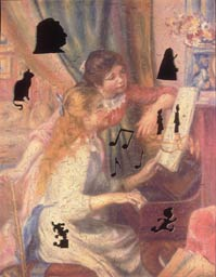 Wooden Jigsaw Puzzle Photo of Renoir - Two Girls at the Piano